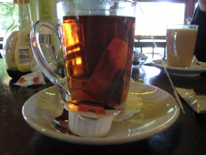 tea - glass mug
