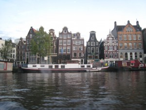 leaning dutch houses
